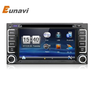 2 Din The Newest 6.2 inch Car DVD Player for Toyota with GPS Navi Car Stereo Radio/Video In-Dash Support Bluetooth/SWC/USB/SD+Waterproof Rear View Camera