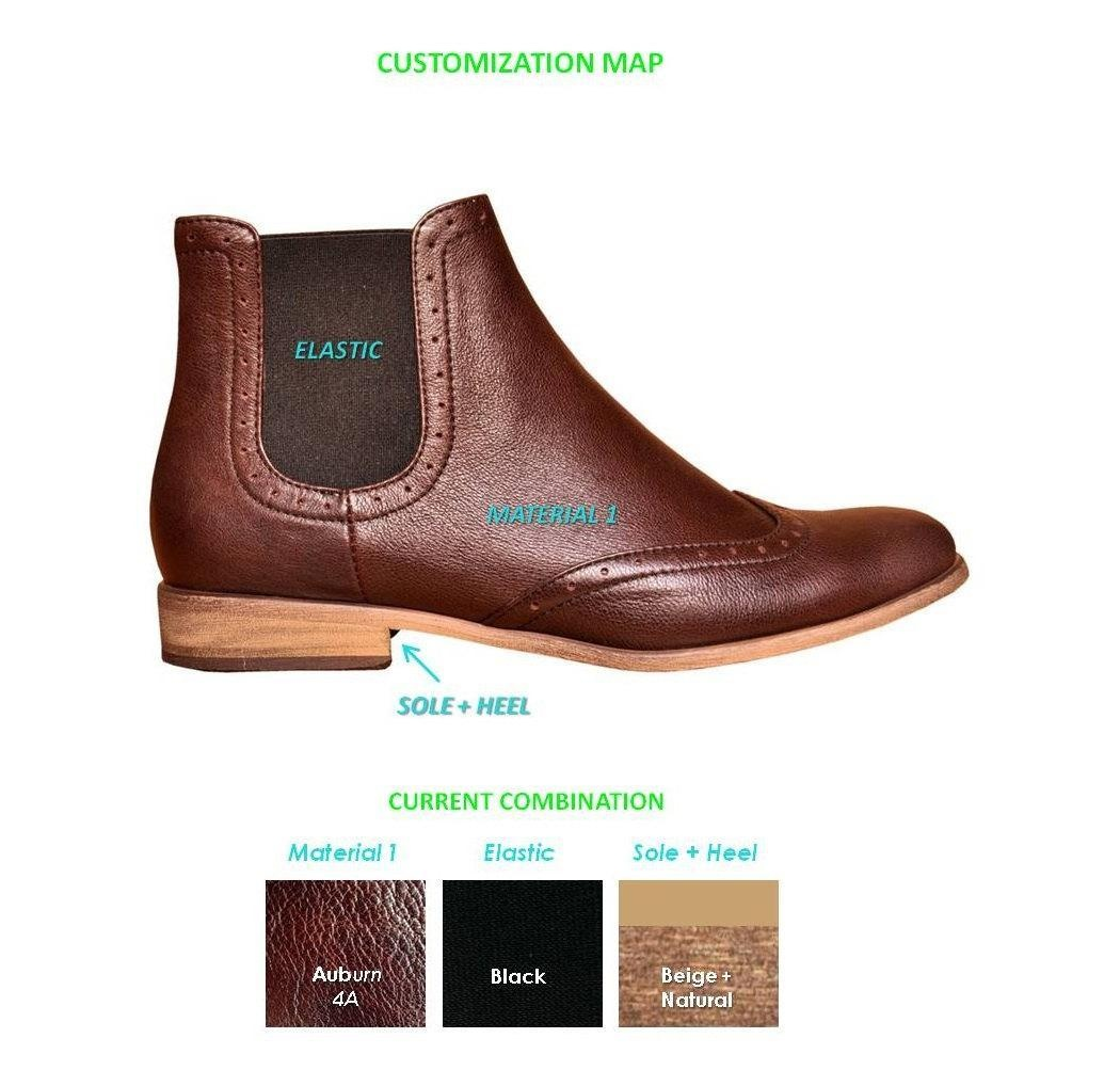 Chelsea - Womens Ankle Boots, Leather Boots, Chelsea Boots, Brown Boots, Casual Style, Custom Boots, FREE customization!!!