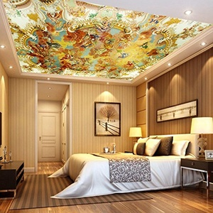 FEI&S European-style Villa ceiling fresco mural wallpaper wallpaper KTV of hotel ceiling wallpaper