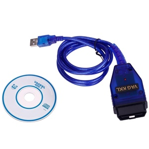 Auto Car Diagnostic Scanner Tool ProTocol VAG COM KKL 409.1 OBD2 USB Cable Line for Audi VW Volkswagen-OBDII