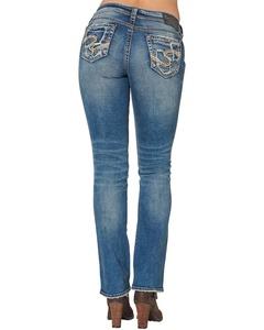 Silver Women's Suki Mid Bootcut Jeans Plus Size Blue 16