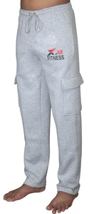 X-2 Men's Fleece Active Joggers Sweatpants Athletic Pants 5 Pockets Grey S
