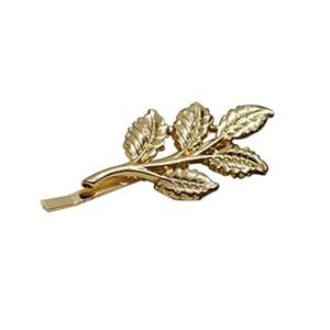ROSENICE 10pcs Leaf Hair Clip Barrette Hair Pin Women Hair Jewellery (Golden)