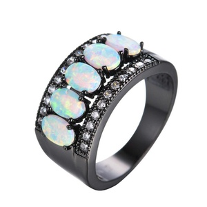 FT-Ring White Fire Opal Jewelry Wedding Ring For Women Engagement Wedding Rings (9)