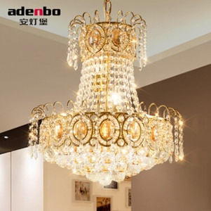 Modern Luxury Gold LED Crystal Chandeliers Light 45cm Ceiling Chandelier Lighting Fixture For Dining Room (ADB928)