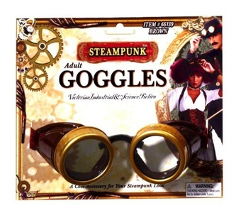Steampunk Brown Goggles by Steampunk