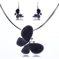 ARICO Vintage Jewelry Set Crystal Enamel Jewelry Sets Butterfly Necklace and Earrings NE635