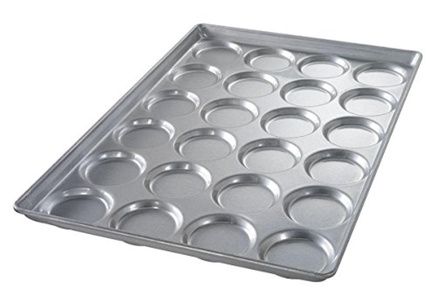 Chicago Metallic - 42445E - 25-11/16 x 17-11/16 Aluminized Steel Bun and Roll Pan, Shiny Gray