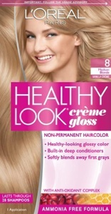 L'Oreal Paris Healthy Look Creme Gloss Color, Medium Blonde/Vanilla Creme 8 (Pack of 3) by N'iceshop
