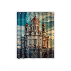Custom Cathedral of Christ Room Darkening Sound Insulation, Heat Insulation, Dust Collection Window Curtains 52