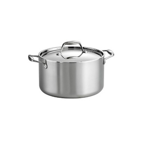 Tramontina 80116/040DS Gourmet 18/10 Stainless Steel Induction-Ready Tri-Ply Clad Covered Sauce Pot, 6-Quart, Stainless by Tramontina