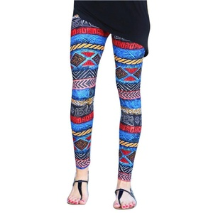 OVERMA Women Skinny Geometric Tribal Printed Stretchy Pants Leggings