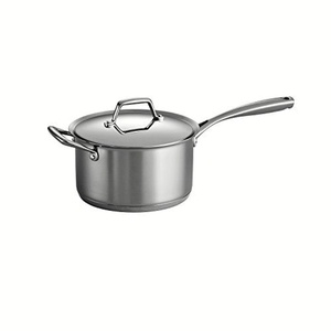 Tramontina Gourmet Prima 18/10 Stainless Steel Tri-Ply Base Covered Sauce Pan, 4-Quart, Silver by Tramontina